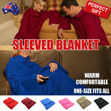 New Sleeved Blanket Warm Throw Snuggle with Sleeves Snuggie TV Fleece Warm Home