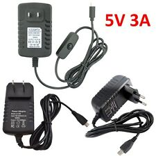 5V 3A Micro USB AC Adapter DC Wall Power Supply Charger for Raspberry Pi /Switch