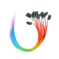 12pcs Clip in Multicolour Grizzly Feather Hair Extensions Rainbow Hair pieces