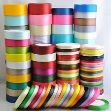 Hot! 25Yard Satin Bow Embellishment Party Craft Ribbon 6mm 10mm 15mm 20mm 25mm