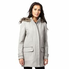 The Collection Womens Grey Hooded Duffle Coat From Debenhams