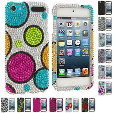 For iPod Touch 5th Gen 5G Colorful Bling Rhinestone Diamond Hard Case Cover