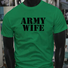 ARMY WIFE ARMED SPECIAL FORCES PROUD MILITARY Mens Green T-Shirt