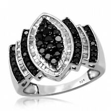 JewelersClub 1.00 CTW Black & White Diamond Ring in Sterling Silver. Shipping is