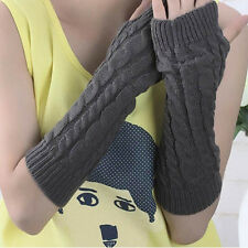Women Men's Gloves Arm Warmer Long Fingerless knit Mitten Winter Warm Gloves New