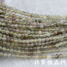 6mm Round Gold Rutilated Quartz Beads Loose Gemstone Beads for Jewelry Making15""