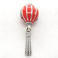 Authentic S925 Silver Chinese Lantern Red Enamel Dangle Charm