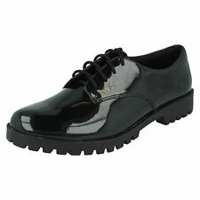 Girls Bootleg School Shoes Agnes May BL