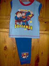LITTLE BOYS SUPERMAN or BOB BUILDER PYJAMAS -AGES 18/24M - 2/3 - 3/4 - 4/5 YEARS