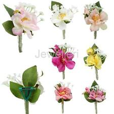 Wedding Party Bridal Groom Corsage Brooch Artificial Flower Boutonniere