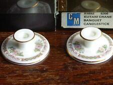 Pair of Miniture Wedgwood Kutani Crane Candleholders Boxed