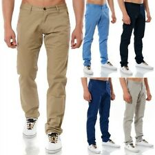 Men's Chinos Straight Leg Stretch Pats Relaxed Designer Slim Fit Chino SALE