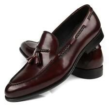 Real Leather New Mens Dress Loafers Slip on Business Formal shoes Black or Brown