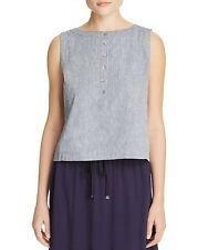 NWT $138 Eileen Fisher Boat Neck Chambray Shell (XS, M, L, XL)