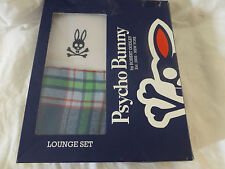 NIB Psycho Bunny White Plaid Lounge Pajama Set Size M L XL New In Box