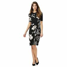 The Collection Womens Black Floral Print Dress From Debenhams