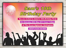 Birthday Invitations, Party Invites, 18th 21st 30th 40th 50th 60th any age Peg 8