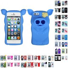 For Apple iPhone 5/5S/SE Silicone Design Skin Soft Phone Case Cover