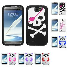 For Samsung Galaxy Note 2 N7100 Silicone Design Skin Soft Phone Case Cover