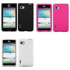 For LG Optimus F3 T-Mobile Silicone Skin Rubber Soft Case Phone Cover