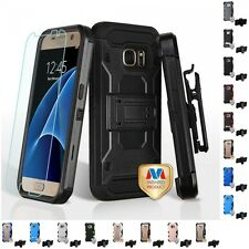 For Samsung Galaxy S7 Hybrid TUFF IMPACT Holster Clip Hard Case Cover