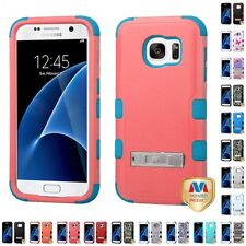For Samsung Galaxy S7 Phone Case IMPACT Hard Cover TUFF Armor Rugged KICKSTAND