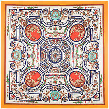 """Women's Twill Silk Square Scarf with the Pattern of  Maze Labyrinth 51""""*51"""""""