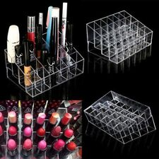 Clear 24 Makeup Cosmetic Lipstick Storage Display Stand Rack Holder Organizer EA