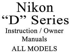 Nikon D User Guide Instruction Operator Users  Manual Group 1 of 2