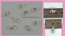 925 Sterling Silver jewelry findings Classic Lobster clasps 10 mm Jewelry making