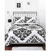 Reversible Comforter Set Cotton Damask Bedding 250 Count ,King,Queen,Full,Twin