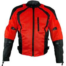 Xelement 'Cyclone' Men's Black/Red Mesh Tri-Tex Armored Motorcycle Jacket