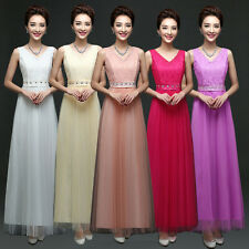 Sexy Women Long Wedding Evening Formal Party Ball Gown Prom Bridesmaid Dress