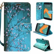For HTC Bolt / 10 Evo Cell Phone Case Hybrid PU Leather Wallet Pouch Flip Cover
