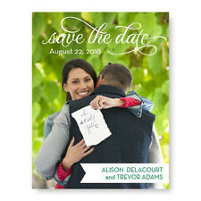 Wedding Announcements Set of 10 Sweet Script Photo Save the Date Cards AA6506