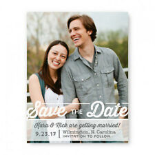 Wedding Announcement Set of 10 Poster Photo Save the Date Cards AA8217