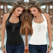 Summer Women Sexy Halter-Neck Blouse Sleeveless Vest Top Casual Tank Top T-Shirt
