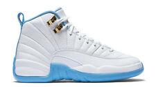 "2016 Nike Air Jordan Retro 12 ""Melo"" White University Blue 510815-127 GS 4y-7y"