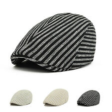 Mens Herringbone Flat Cap Peaked Baker Racing Beret Hat Country Golf Newsboy