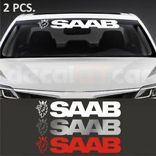2 pcs. Saab windshield decal sticker  9-3 9-5 9-3X 900 9000 Cabrio