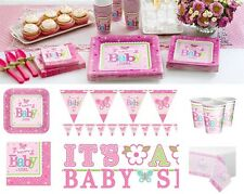 Baby Shower Welcome Girl Party Supplies Tableware Plates Napkins Cups Decoration