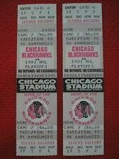 CHICAGO BLACKHAWKS NHL STANLEY CUP PLAYOFFS TICKETS OLD CHICAGO STADIUM