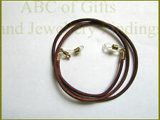 Brown Leather Eye / sun Glasses Cord Holder / Lanyard / Necklace