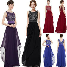 Women's Sexy Lace Evening Formal Party Cocktail Bridesmaid Prom Gown Long Dress