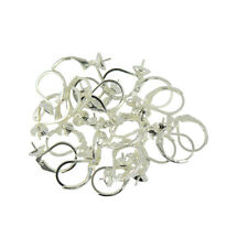 20pcs Gold Silver Bronze Plated French Earring Clip Hooks With Round Findings
