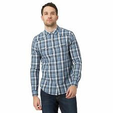Red Herring Mens Blue Checked Button Down Shirt From Debenhams