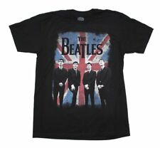 Beatles Distressed Union Jack T-Shirt Officially Licensed Black Men S M L XL