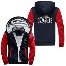 COWBOYS Dallas Jacket Hoodie Coat Zipper Warm Fleece Lady Men's Lover Sweatshirt