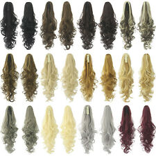 """24""""/60cm Clip In Claw Ponytail Synthetic Long Wave Curly Hair Extensions 130g/pc"""
