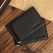 Card Credit Holder Bifold Wallet Purse Money Clip Genuine Leather